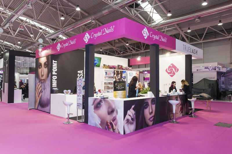 stand fiera allestimenti cosmoprof crystal nails